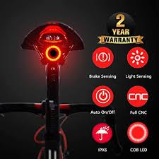 Smart Bike Tail Light, USB Rechargeable Ultra Bright ... - Amazon.com
