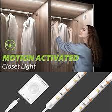 Motion Activated <b>LED Strip Light</b>, Megulla Motion <b>Sensor</b> Night <b>Light</b> ...