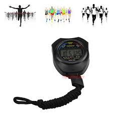 Fitness Tech <b>Waterproof Digital LCD</b> Stopwatch Chronograph Timer ...