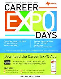 career expo utd career center bits f14 expo days flyer app info