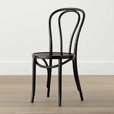 vienna black wood dining chair crate and barrel black bentwood chairs