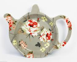 Tea Bag Holder Teapot Shaped Tidy Vintage Floral Pattern Durable ...