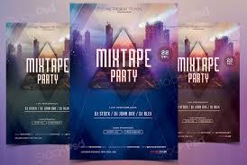 mixtape party bie psd flyer template stockpsd net do