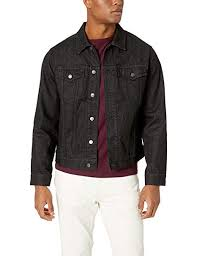 Amazon Essentials Men's Denim Trucker Jacket ... - Amazon.com