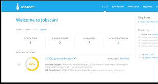 jobscan optimize your resume and boost interview chances jobscan your job search stats saved resume versions and job descriptions