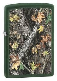<b>Зажигалка бензиновая Mossy Oak</b> (зеленая, матовая) от Zippo ...