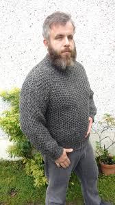 Authentic Irish Fisherman Sweater-<b>FREE SHIPPING</b>-dark gray-<b>100</b> ...
