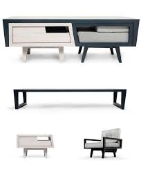 the coffee table that houses an armchair and side table chest coffee table multifunction furniture
