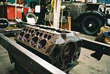 ford flathead v8 engine engine block of a flathead v8 showing the location of the valve ports the holes above the large cylinder bores