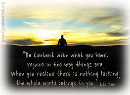 Be content - Lao Tzu quote | Openhand