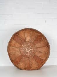 Moroccan <b>pouf</b> Berber ottoman Poufs leather <b>Handmade pouffe</b> ...