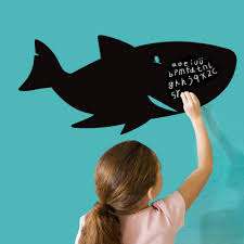 online get cheap paper writing board com alibaba group shark fish blackboard writing board wall decal home sticker paper removable art picture murals kid nursery