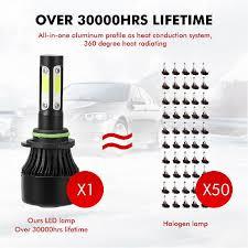 <b>Aslent</b> 4 Side Lumens COB 100W 12000lm <b>LED</b> Bulb H4 H7 H11 ...