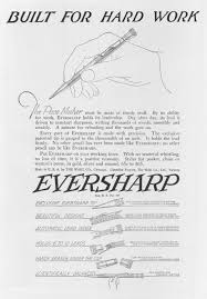 the write stuff how the humble pencil conquered the world a full page advertisement for an eversharp mechanical pencil produced by the wahl company of chicago