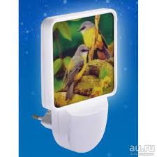 """<b>Ночник</b> с фотосенсором Camelion NL-165 """"Птички"""" (<b>LED</b>, 220V ..."""