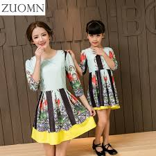 New Year <b>Mother Daughter Dresses Cute</b> Family Matching Outfits ...