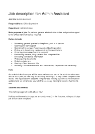 duties of an administrative assistant   singlepageresume com    legal assistant duties resume with sample job description for administrative assistant