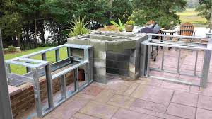patio kitchen flagstone outdoor  images about outdoor kitchens on pinterest stainless steel cabinets s