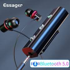 <b>Essager Bluetooth 5.0</b> Receiver Wireless Adapter For 3.5mm Jack ...