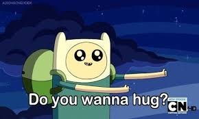 do you want a hug adventure time gif