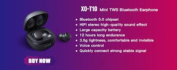 <b>XO</b> T10 TWS Wireless <b>Bluetooth</b> earphones 3D <b>Stereo Sports</b> ...