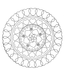 Small Picture To print this free coloring page free mandala to color hearts
