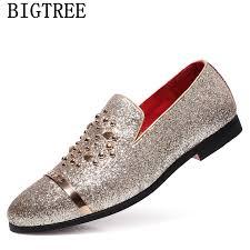 <b>italian fashion glitter loafers</b> men new arrival 2019 coiffeur wedding ...