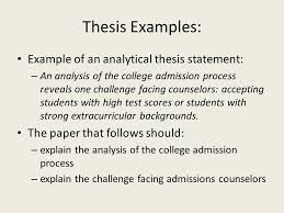 how to write an essay for a history class common mistakes  level  thesis examples example of an analytical thesis statement  an analysis of the college