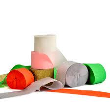 4.5*<b>10m</b>/<b>Roll Crepe Paper Streamers</b> Christmas Decoration DIY ...