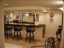 finished basement with western style mini bar basement lighting layout