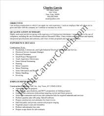 construction resume template –   free word  excel  pdf format    construction estimator resume pdf free downlaod
