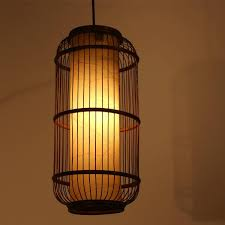 southeast asia rattan bamboo cylinder cage ceiling pendant lights stair case pendant lamp dining room corridor bamboo lighting fixtures