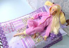 Doll <b>6</b> pcs purple quilt bedding set Barbie Monster high Blythe Bratz ...