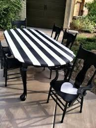 for garden on plastic outdoor furniture amazing black and white striped dining table completed by olivewood designsfollow them on facebook black and white striped furniture