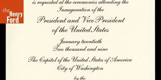 Invitation to Attend the Presidential Inauguration of Barack H ...