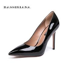 <b>BASSIRIANA 2018 new quality</b> genuine leather patent leather shoes ...