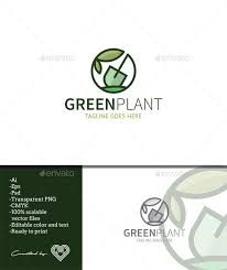 <b>Green Plant</b> is a sophisticated and simple logo template with a ...