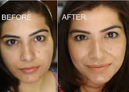 strobing makeup on indian skin before after