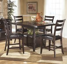 square pub set counter height table dining  reviews ashley furniture ridgley square dining room counter height ta