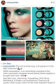 lately melissa who 39 s a mac makeup artist and trainer has been posting these mini history