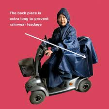 Waterproof Rain Cape Mobility Scooter Cover with sleeves and ...