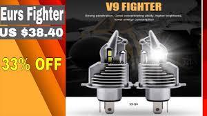Eurs Fighter 2Pcs <b>Foco</b> H4 Led Bulbs Car motorcycle Headlight ...