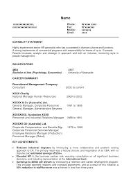 hr resume format  hr generalist resume samples  skills based    hr resume format
