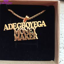 Punk <b>Style Personalized Name Necklace</b> Customized Big ...