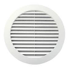 решетка вентиляционная круглая D130 с фланцем с сеткой ...