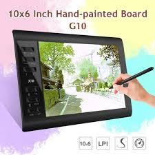 2020 New 10x6 Inch Large Screen Designer Digital <b>Tablet G10</b> ...