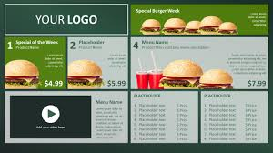 digital signage templates and powerpoint templates digital signage powerpoint template to show digital menu board menus and promotions ideal for