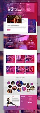 17 best ideas about website templates salon sports and fitness website template psd