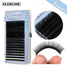 <b>GLAMLASH</b> 2Cases/Lot 16rows <b>7</b>~15mm <b>Mix</b> High Quality Mink ...