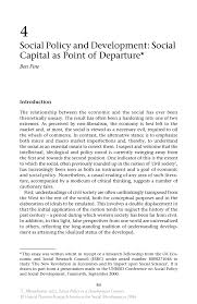 social policy and development social capital as point of inside